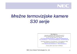 """""""Nec S30 - mrežna termovizijska kamera"""" u PDF formatu"""