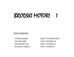 BRODSKI MOTORI I