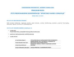 Prezumite program rada u PDF-u