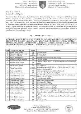 N ugradnja.pdf - Ministarstvo za boračka pitanja Kantona Sarajevo