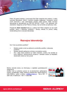 Sigma-Aldrich proizvodni program reagenasa, PDF dokument, 75 Kb