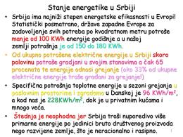 Stanje energetike u Srbiji
