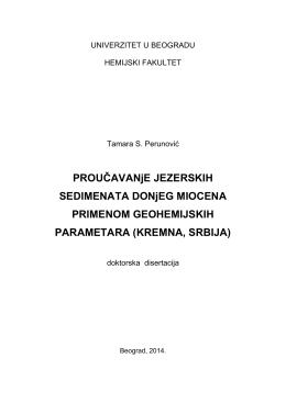 univerzitet u beogradu - Hemijski fakultet