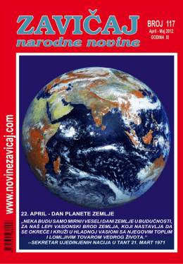 22. APRIL - DAN PLANETE ZEMLJE