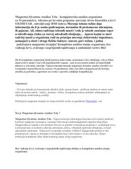 Magnetno-Qvantna Analiza Tela - kompjuterska