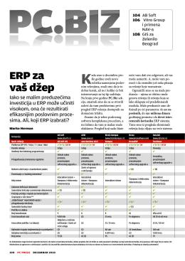 ERP za vaš džep - Poslovni softver – KOMPAS