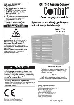 CTU uputstvo za montažu, rukovanje i servisiranje (srp)