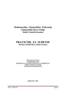Pravilnik MSG - Gimnastički savez Vojvodine