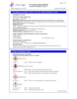 List sigurnosnih podataka - DR