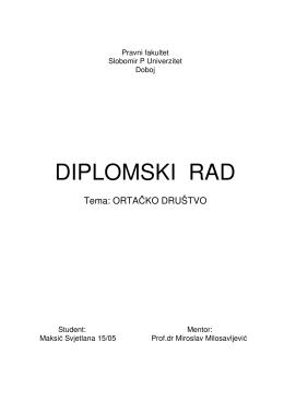 DIPLOMSKI RAD - Slobomir P Univerzitet