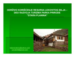 Lekovito bilje i razvoj turizma Stare planine