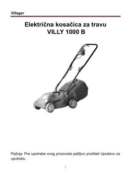 Električna kosačica za travu VILLY 1000 B - Oleo-Mac