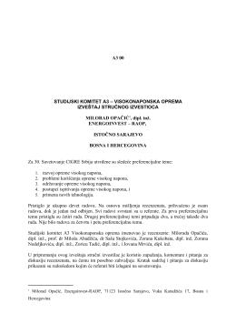 A3 00 STUDIJSKI KOMITET A3 – VISOKONAPONSKA