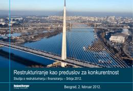 Roland Berger studija o restrukturiranju