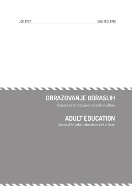 OBRAZOVANJE ODRASLIH ADULT EDUCATION