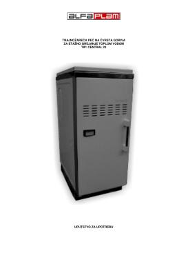 Uputstvo za upotrebu-Etažno grejanje-Peći-Central 23
