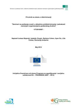 Seminari za podizanje svesti u oblastima antidiskriminacije i