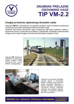TIP VM-2.2 Uredjaj za kontrolu opterećenja drumskih vozila