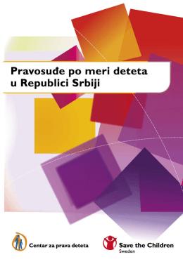 Pravosuđe po meri deteta u Republici Srbiji
