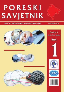 Poreski savjetnik broj 1 - Institut Računovođa i Revizora Crne Gore