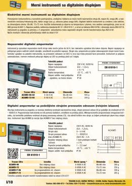 I/10 Merni instrumenti sa digitalnim displejem