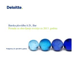 О Deloitte - Montenegro lines
