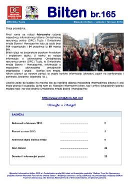 Februar - Omladinska mreza BiH