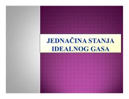 jednacina stanja idealnog gasa