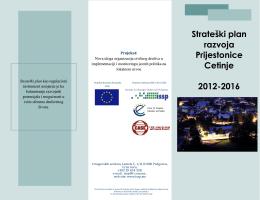 Strateški plan razvoja Prijestonice Cetinje 2012-2016