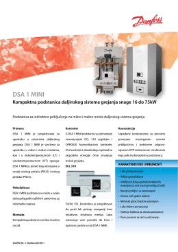 DSA 1 MINI - Danfoss.com