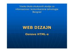 HTML - Visoka ICT škola