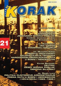 KORAK 08.indb - Udruženje za zaštitu tekovina borbe za Bosnu i