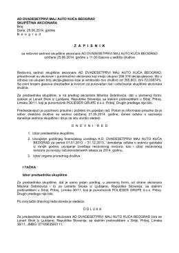 Zapisnik sa redovne sednice skupštine 2014