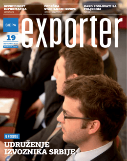 Exporter 19 - Septembar 2012