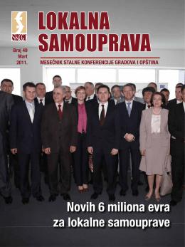 Novih 6 miliona evra za lokalne samouprave