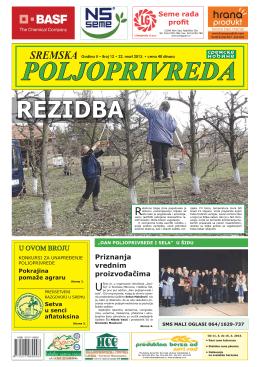 Sremska poljoprivreda broj 12 22. mart 2013.