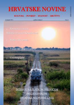 Hrvatske novine – br. 3 - Hrvatska Nezavisna Lista