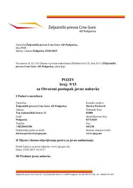 monoblok točkovi - Željeznički prevoz Crne Gore