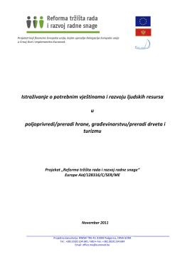 Istraživanje o potrebnim vještinama i razvoju ljudskih resursa u