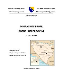 MIGRACIONI PROFIL BOSNE I HERCEGOVINE za 2012