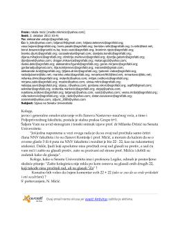 Popratni e-mail Mićića