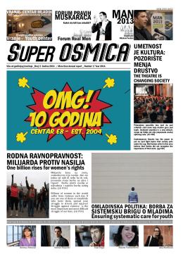 Godišnji izveštaj SUPER OSMICA za 2013. godinu