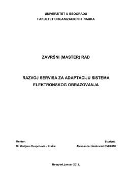 Master rad – Aleksandar Nastevski
