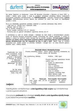 Ekološki bilans TENIFER postupka nitriranja i zaštite površine