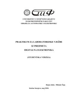 praktikum za laboratorijske vježbe iz predmeta digitalna elektronika