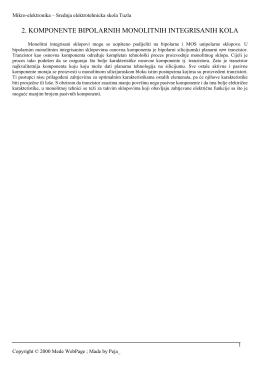 2. komponente bipolarnih monolitnih integrisanih kola