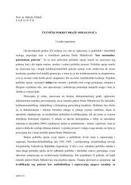 Četnički pokret Draže Mihailovića