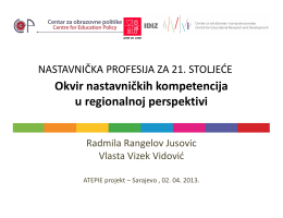 Radmila Rangelov Jusović & Vlasta Vizek Vidović
