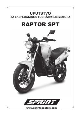 Raptor SPT 350 uputstvo.indd - SPRINT Skuteri