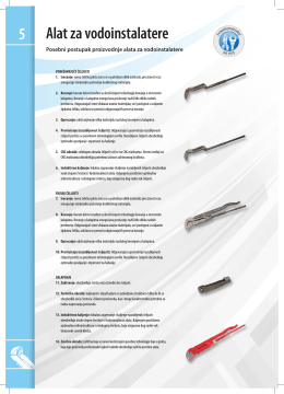 5 Alat za vodoinstalatere